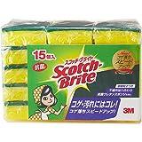 スリーエム(3M) スコッチブライト キッチンスポンジ 抗菌 15個 S-21KS 15PC
