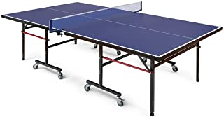 Dawndior Competition-Ready Table Tennis Table with Net Removable Folding Ping Pong Table Outdoor Home Pair Solo Practice
