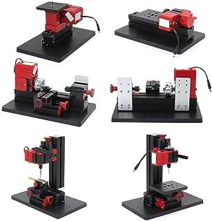 DIY Tool Lathe Mini Multipurpose Machine 6 In 1 Kit Wood Soft Metal Woodworking