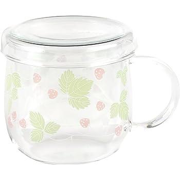 セレック (CELEC) 「 チャミエル ティーメイト 」 GO型 マグカップ(茶こし付) ロマンチックストロベリー 3800042