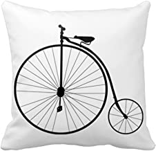 Vintage Penny Farthing Bicycle Bike Pillowcase Throw Pillow Cover Home Decor New Design Square Cushion Covers 18*18 Cotton Polyester Decorative for Sofa