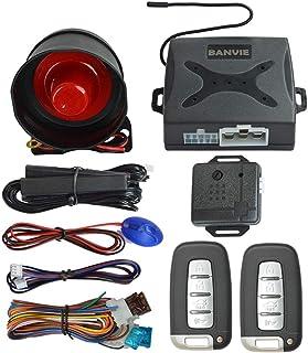 BANVIE PKE Car Security Alarm System with Passive Keyless Entry