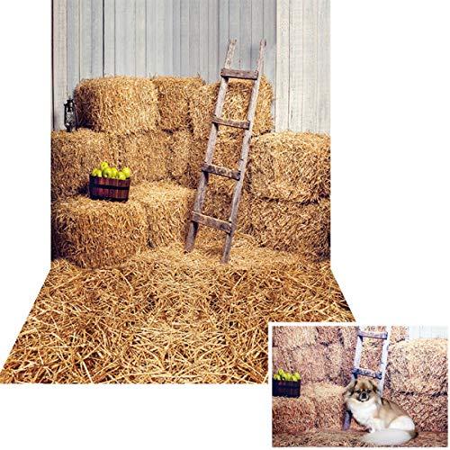 HUAYI 5x10ft Yellow Fall Photography Backdrops Farm Haystack Backdrop Barn Background Photo Booth Props KP-006