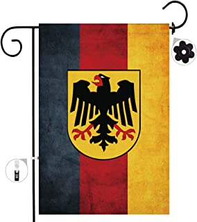 Bonsai Tree Burlap German Garden Flags 12x18 Prime Double-Sided Germany Yard Outdoor Decorative Flag Banner Stopper & Anti-Wind Clip