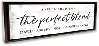 Pretty Perfect Studio The Perfect Blend Custom Sign, Personalized Family Last Name | Wedding for Newlyweds