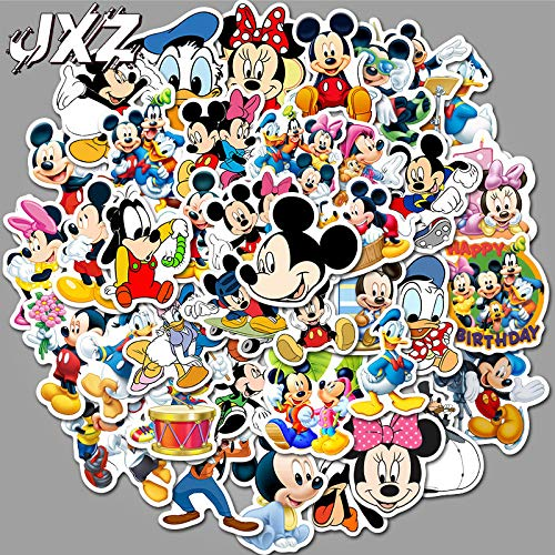Mickey Mouse Cartoon Sticker, leuke Mickey Mouse, waterdichte sticker, koffer, notebook, koelkast en kinderen, 50 vellen