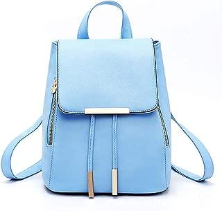 Ronshin Fashion Women Fashion Double Zipper Iron Lace Drawstring Backpack