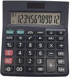Kunststoff Solar Computer Business Finanzen B/ürorechner 12-Bit Tischrechner B/ürobedarf