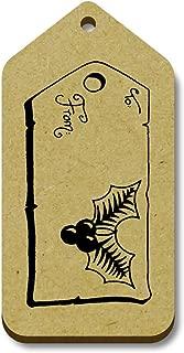 Azeeda 10 x 'Holly Christmas Tag' 66mm x 34mm Gift Tags (TG00006582)
