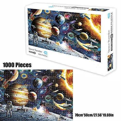 TINYOUTH 1000 Pieces Space Jigsaw Puzzles for Adults, Planet Theme Puzzle Set, Cardboard Puzzle, No Colour or Printing Blemishes, Educational Game Stress Reliever Difficult Challenge Puzzle for Kids
