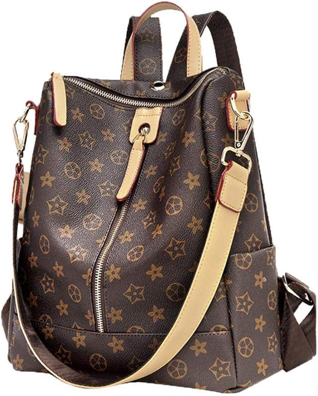 Designer Handbags Fashion Backpack Leather Zipper Shoulder Bag Handbags Casual Purse for Women Teenage Girls (A)