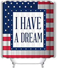 Xunulyn i Have Dream Martin Luther King i Have Dream Martin Luther King Small Eco Friendly Heavy Duty Peva - Naturally Mold Shower Curtain 60x72 INCH