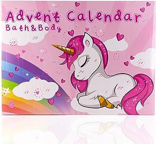 Accentra Calendrier de l'Avent de beauté Unicorn pour femmes, filles, chevaux & licorne, 24 cosmétiques Calendrier de l'Av...