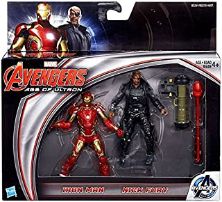 Marvel Avengers Age of Ultron Movie, Iron Man and Nick Fury Action Figures, 3.75 Inches