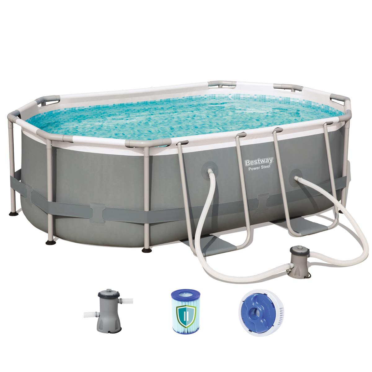 Piscina tubular ovalada Besway Power Steel 3668 litros – 300 x 200 ...
