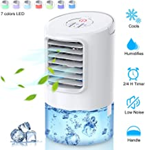 SUPALAK Personal Air Conditioner Fan, Portable Air Cooler, Mini Air Conditioner Evaporative Cooler for Desk Top with 2H/4H Timer, Adjustable 3 Speeds Misting Personal Space Cooler for Home, Office…