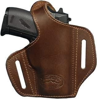 Barsony New Brown Leather Pancake Gun Holster for Mini/Pocket 22 25 32 380