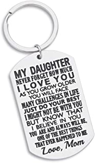 Daughter Gift from Mom Inspirational Keychain for Teen Girl Women from Stepmom