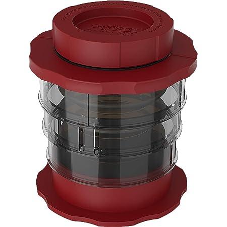 カフラーノ Cafflano コーヒーメーカー フレンチプレス 収納ケース付 ポータブル レッド Φ10.8×12cm コンパクト P100-RD