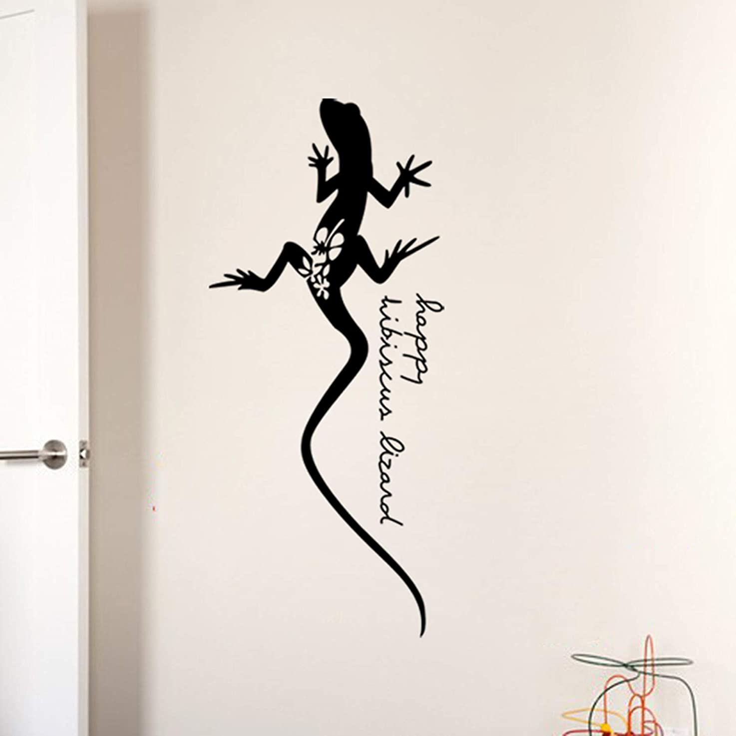 CHengQiSM Gecko Black and White Style Wall Sticker Gecko Wall Decals Removable Stickers Window Stickers Cabinet Stickers Car Stickers