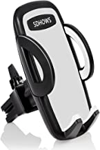 SDHOWS Electronics Universal Smartphone Car Air Vent Mount Holder Cradle Compatible with iPhone X 8 8 Plus 7 7 Plus SE 6s 6 Plus 6 5s 5 4s 4 Samsung Galaxy S6 S5 S4 LG Nexus Sony Nokia and More (Gray)