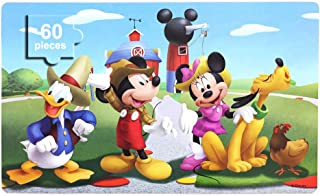 Disney Puzzles in a Metal Box 60 Piece Jigsaw Puzzles for Kids Ages 4-8 Puzzles for Boys and Girls Great Gifts for Children (Mickey Mouse)