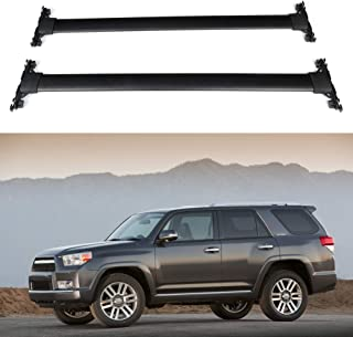 ECCPP Roof Rack Cross Bar Roof Rack Cross Bars Luggage Cargo Carrier Rails Fit for 2010 2011 2012 2013 2014 2015 2016 2017 2018 2019 Toyota 4Runner,Aluminum Roof Mounted Roof Rack Cross Bar Set