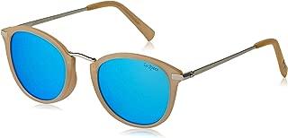 LE SPECS Unisex Speechless LSP1902147  Round Sunglasses,Raw Sugar / Silver,50 mm