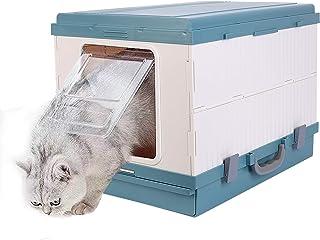 猫用トイレ本体 大型 ドーム型 折りたたみ式 引き出し スコップ付き ハンドル付き 10kg以下ネコ