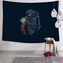 SHDU Astronaut Jellyspace Tapestry Wall Hanging Bedding for Living Room Bedroom Dorm Home Decor Blanket 51.2 x 59.1 Inch
