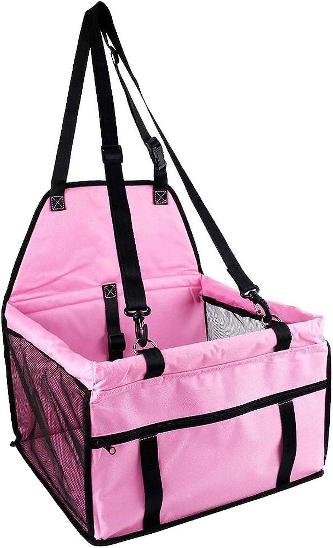 Demino Waterproof Pet Dog Puppy Cat Carrier Safe Carry Bag Basket Kitten Car Travel Blanket pink