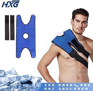 Hivexagon Bolsa de Hielo con Correa Elástica para Terapia de Alivio del Dolor Ajustable para la rodilla, la cintura y el hombro (bolsa de hielo no incluida) HG219