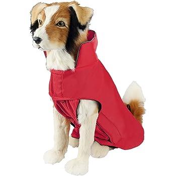 SelfLove Hundemantel aus 100% Wasserdicht Nylon Fleece Futter Jacke Reflektierende Hundejacke Warm Hundemantel Climate Changer Fleece Jacke einfaches An- und Ausziehen