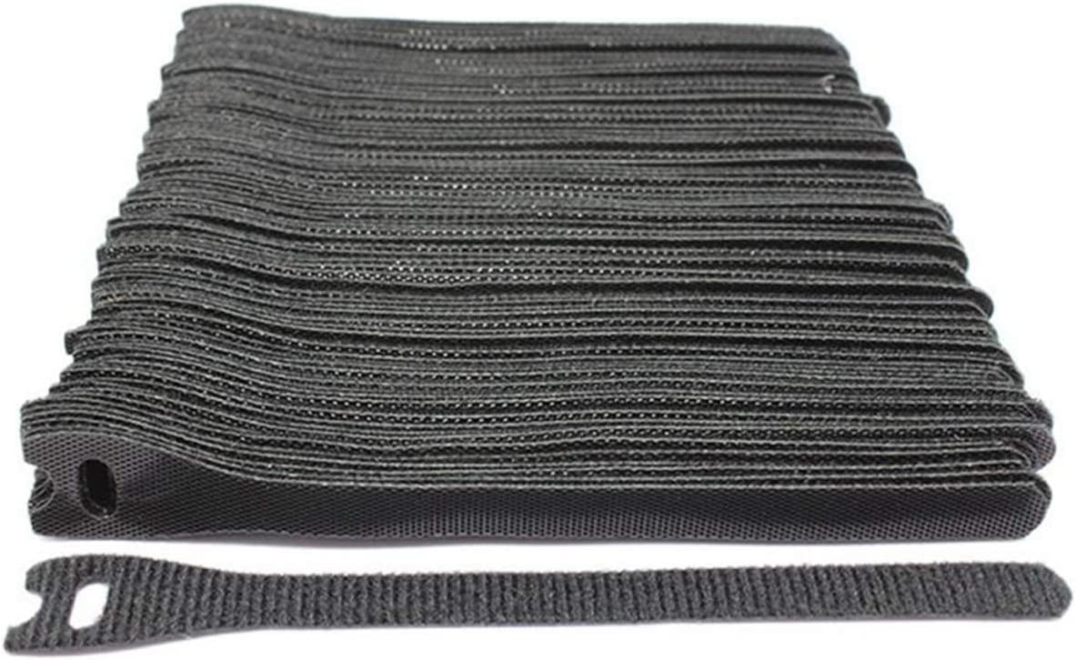 50 Unids T-Type Cable Tie 12 150mm Velcros Adhesivo Sticker Hook Cable Tie Wire Management negro,One Size