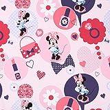 Fabulous Fabrics Disney Minnie Mouse Baumwollstoff pink —