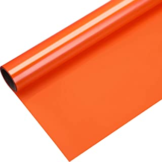 1 Roll Heat Transfer Vinyl 12 Inch by 5 Feet for T-Shirts, Hats, Clothing, Iron on HTV Compatible with Cricut, Cameo, Heat Press Machines, Sublimation (Orange)
