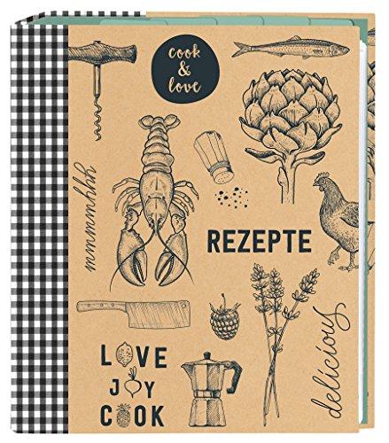 Moses. 80623Cook & Love para recetas DIN A5| con fundas transparentes y registro bolsillos coleccionables | para recetas