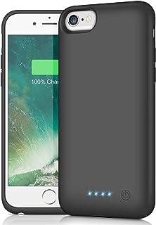 HETP Funda Bateria para iPhone 8/7/6/6S, 6000mAh Carcasa Bateria [Ultra Thin] Externa Recargable Portatil Protector Cargador Power Bank Case para Apple iPhone 6/6S/7/8(4,7