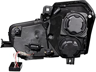 Anzo USA 121415 Black Halo Projector Headlight with Clear Lens for Cadillac CTS