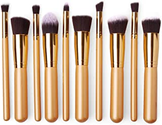 Other Professional Synthetic Kabuki Makeup Brushes, Set Of 10 Piece [Fas-Mb-17-Go]