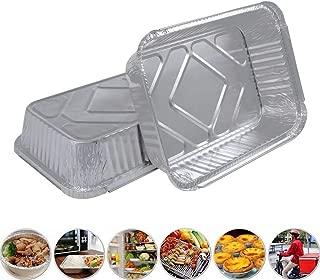 Disposable Aluminum Foil Pans - Aluminum Loaf Pans - Baking Pans - with Cardboard Lid Covers - Lichen Cottage (8.7 x 6.5 Pan & Board Lid (30 Pack))