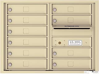 Florence 4C06D-10SD 10-Unit Mailbox Wall MT. Sandstone Finish