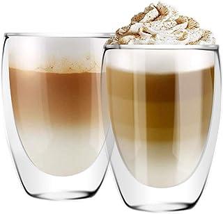 [6 بسته ، 12 اونس] DESIGN • MASTER - شیشه عایق دو جداره ، لیوان قهوه یا شیشه چای ، شیشه عایق حرارتی ، مناسب برای لاته ، کاپوچینو ، آمریکانو و چای