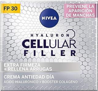 NIVEA Hyaluron Cellular Filler Cuidado de Día FP30 (1 x 50 ml) crema hidratante de día crema antiarrugas con ácido hialu...