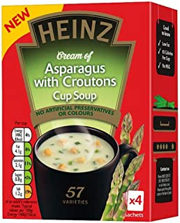 Heinz Cream of Asparagus with Croutons Cup Soup ( 4x 18g)- (Pack of 2)