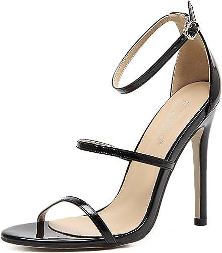 RUGAI-UE RUGAI-UE Summer Wohommes chaussures, European and American High Heeled chaussures, Thin and Large Yards, Ladies' Sandals.  pour votre style de jeu aux meilleurs prix