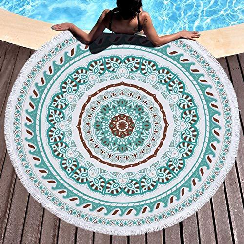 VIOYO Strandhanddoek Zomer Mandala Ronde Strandhanddoek Zon Blokkeren Boho Vrouwen Zandachtig Zwembad Handdoek Serviette