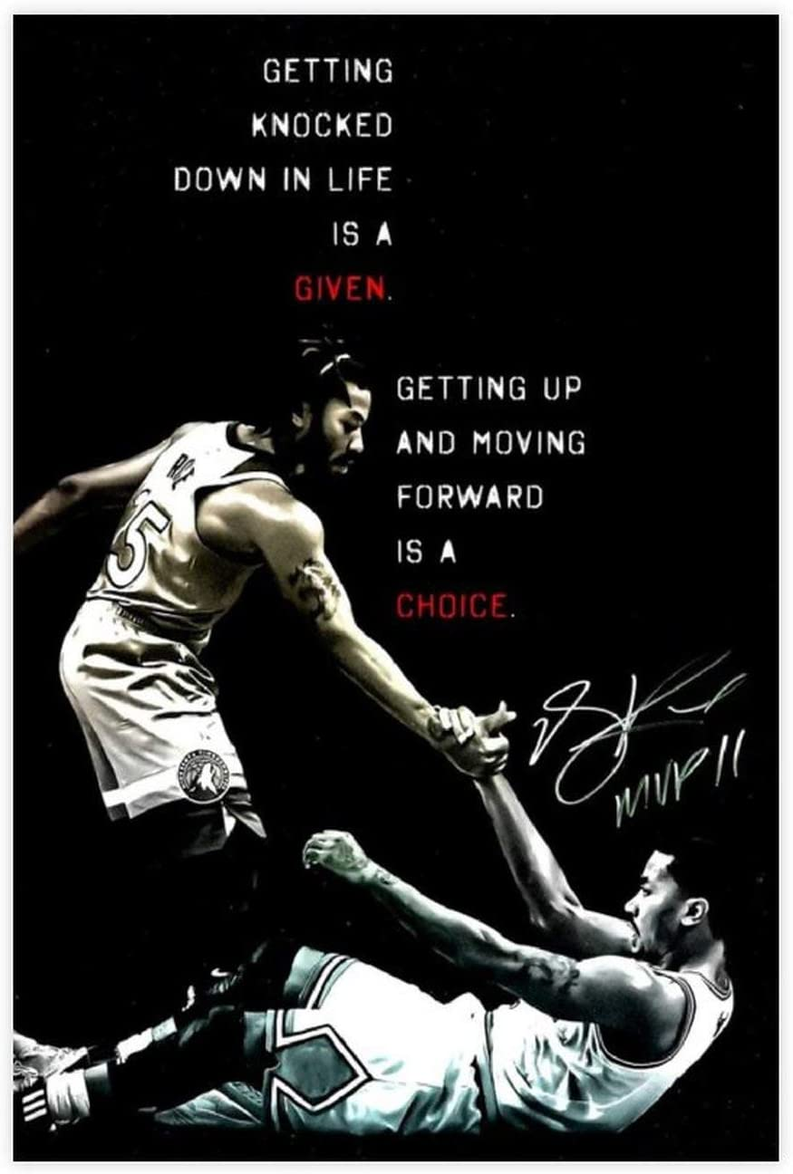 Basketball Star Superior Derrick Rose Selling and selling Art Canvas Wal Poster HD 3
