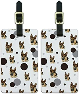 Graphics & More Luggage Suitcase Carry-on Id Tags-German Shepherd, White