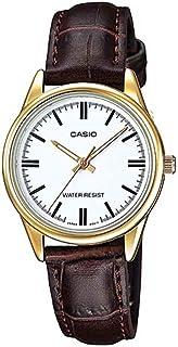 كاسيو ساعة للنساء - جلد - LTP-V005GL-7AUDF